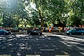 London - Bayswater Road - View SE on Sunday Morning Art Fair along Hyde Park Fence.jpg