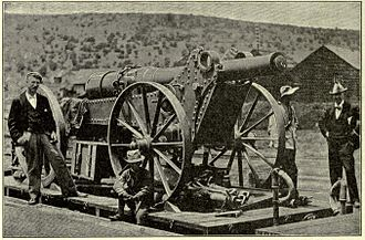 Boer Long Tom gun en route to Kimberley Long Tom en route to Kimberley.jpg