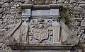 Lorrha Priory of St. Peter Choir North Wall Memorial Plaque of O'Kennedy Family Coat of Arms 2010 09 04.jpg