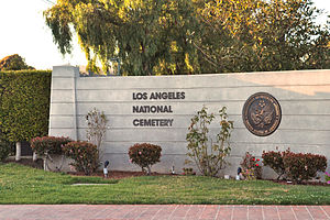 Los Angeles National Cemetery - Cemetery entrance.
