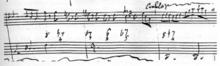 Louis Ferdinand: Skizze zu op.4,Melodie mit beziffertem Bass (Quelle: Wikimedia)