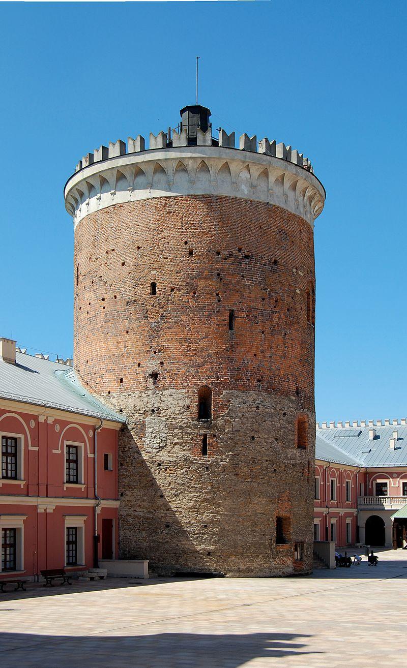 średniowieczny stołp na Zamku w Lublinie