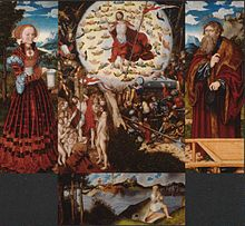 Rekonstruktion des Magdalenenaltars, Festtagsseite, 1520–25 (Quelle: Wikimedia)