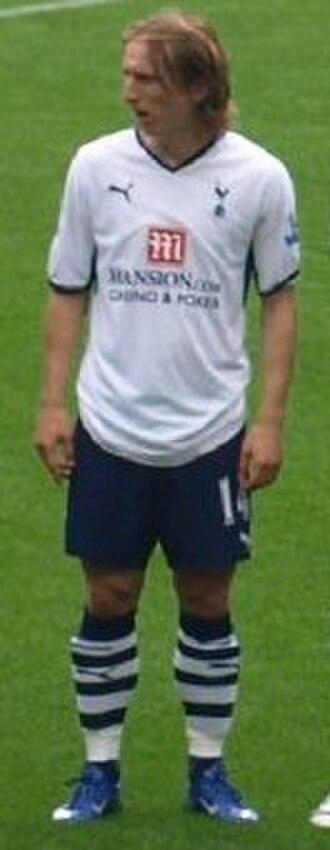 Luka Modrić - Modrić in a game against Chelsea, 2008.