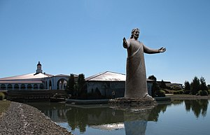 Aniconism in Christianity - The 52 foot tall ''Lux Mundi'' statue of Jesus at the nondenominational Solid Rock Church in Monroe, Ohio