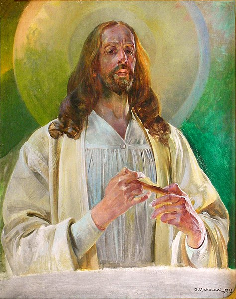 File:Lwowska Galeria Sztuki - Jacek Malczewski - Christ in Emmaus.jpg