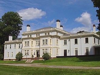 Lyman Estate - Front facade of the Lyman Estate.