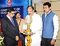 M. Venkaiah Naidu lighting the lamp to inaugurate the workshop for Regional News Heads of Doordarshan News, in New Delhi.jpg