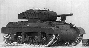 Medium Tank M7 - Third production M7 medium tank at the General Motors Proving Ground.