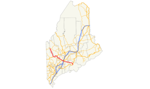 Maine State Route 17 - Image: ME 17 map