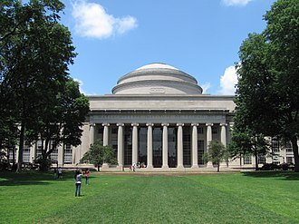Massachusetts Institute of Technology - MIT's Building 10 and Great Dome overlooking Killian Court