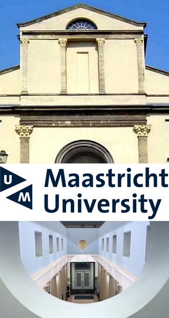 Maastricht University - Exterior and interior of the university's administrative headquarters at Minderbroedersberg