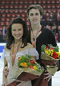 Madison Chock & Greg Zuerlein Podium 2009 Junior Worlds.jpg