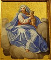 Madonna and Child by Marcello Provenzale, dated 1600, mosaic - Galleria Borghese - Rome, Italy - DSC04708.jpg