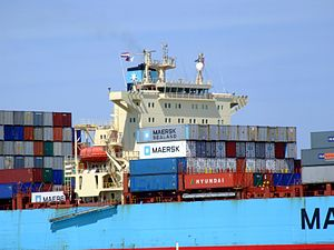 Maersk Gateshead p06 approaching Port of Rotterdam, Holland 08-Jul-2007.jpg