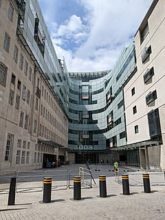 Broadcasting House Headquarters and registered office of the BBC in London, England