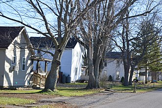 Cecil, Ohio - Houses on Main Street