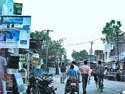 A street in Mainpuri town
