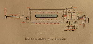 Herculaneum papyri - Map of Villa of the Papyri.