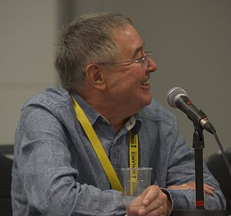 Malcolm Edwards - Edwards on a panel discussing The Encyclopedia of Science Fiction at the 72nd Worldcon in 2014