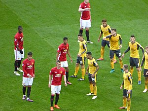 Arsenal F.C.–Manchester United F.C. rivalry - A league match between José Mourinho-led United and Arsenal, November 2016. Despite previous animosity between Mourinho and Wenger, the rivalry has softened.