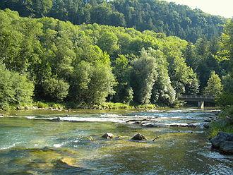 Mangfall - Mangfall bend, looking downstream