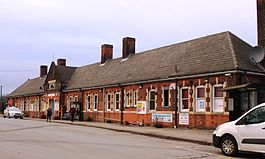 Manningtree station in 2013 - up side exterior.JPG
