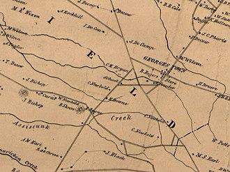 Mount Pleasant, Burlington County, New Jersey - Image: Mansfield Township 1859 panhandle