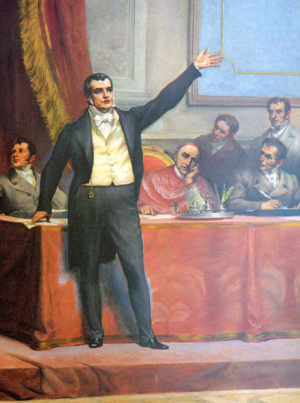 Revolutions of 1820 - Manuel Fernandes Tomás gives a speech during the drafting of the first Portuguese Constitution.