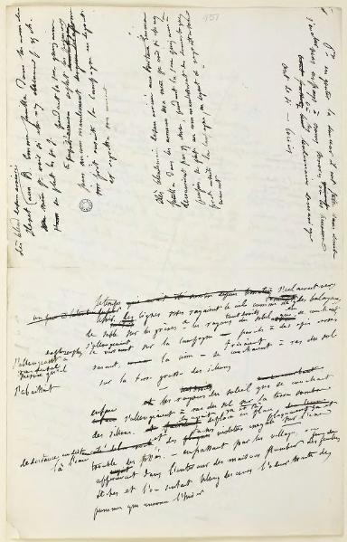 Manuscript of Madame Bovary 2231 draft part2