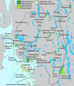 kart over østfold Verneområder i Østfold – Wikipedia kart over østfold