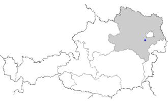 Heiligenkreuz, Lower Austria - Image: Map at heiligenkreuz
