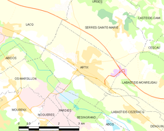 Map commune FR insee code 64061.png