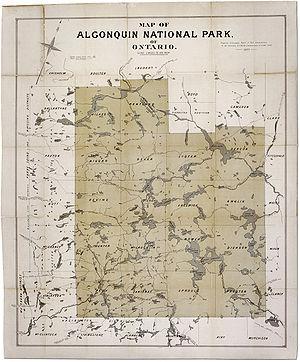 Algonquin Provincial Park - 1893 Survey of Park Lands