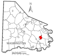Location of Bentleyville in Washington County