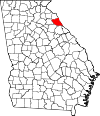 Map of Georgia highlighting Elbert County.svg