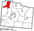 Map of Greene County Ohio Highlighting Fairborn City.png