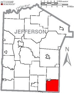 Map of Jefferson County, Pennsylvania Highlighting Gaskill Township.PNG
