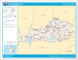 Outline of Kentucky - An enlargeable map of the Commonwealth of Kentucky
