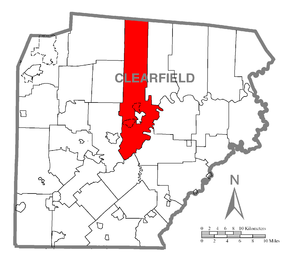 Lawrence Township, Clearfield County, Pennsylvania - Image: Map of Lawrence Township, Clearfield County, Pennsylvania Highlighted