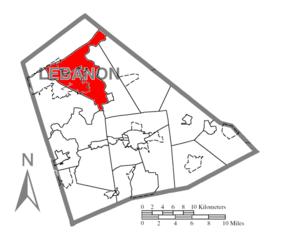Union Township, Lebanon County, Pennsylvania - Image: Map of Lebanon County, Pennsylvania Highlighting Union Township