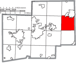 Location of Washington Township in Stark County
