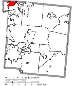 Carlisle, Ohio - Image: Map of Warren County Ohio Highlighting Carlisle Village