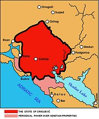 Map of Zeta under Ivan Crnojević