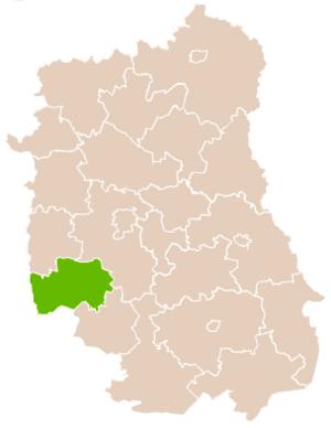 Kraśnik County - Image: Mapa Pow Kraśnicki
