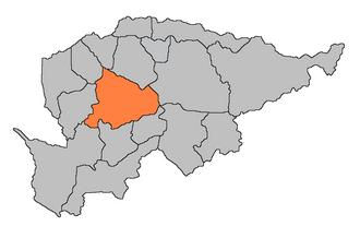 Villarrica, Paraguay - Image: Mapa de Villarrica guaira paraguay