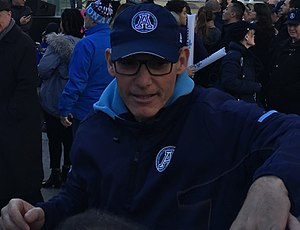 Marc Trestman - Trestman at the 105th Grey Cup celebration rally.