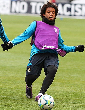 Marcelo (footballer, born 1988) - Marcelo training with Real Madrid in 2011
