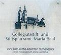 Maria Saal Domplatz 1 Stiftspfarramt Tafel am Eingang 03072017 5303.jpg