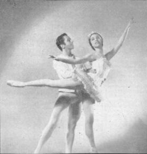 Nicholas Magallanes - Maria Tallchief as the Sugar Plum Fairy and Nicholas Magallanes as her cavalier The Nutcracker (1954).